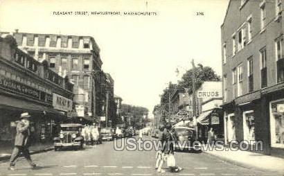Pleasant Street - Newburyport, Massachusetts MA Postcard