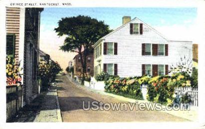 Quince St. - Nantucket, Massachusetts MA Postcard