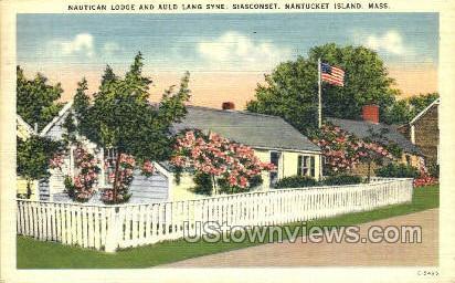 Nautican Lodge - Nantucket, Massachusetts MA Postcard