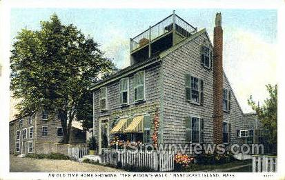 An Old Time Home - Nantucket, Massachusetts MA Postcard
