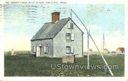 The Oldest House - Nantucket, Massachusetts MA Postcard