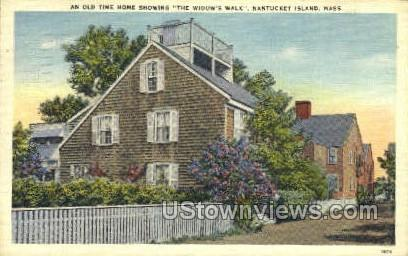 And Old Time Home - Nantucket, Massachusetts MA Postcard