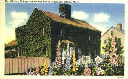 The Old Ivory Cottage - Nantucket, Massachusetts MA Postcard