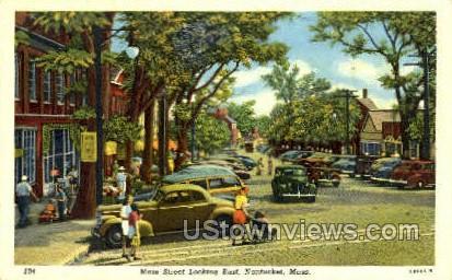Main St. - Nantucket, Massachusetts MA Postcard