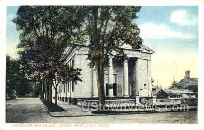Atheneum & Public Library - Nantucket, Massachusetts MA Postcard