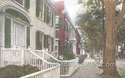 Colonial Homes, Academy Hill - Nantucket, Massachusetts MA Postcard