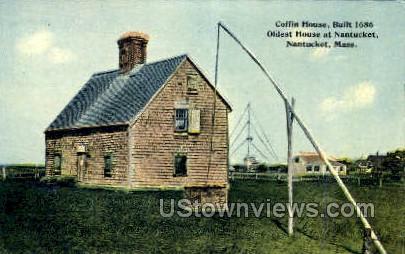 Coffin Hosue - Nantucket, Massachusetts MA Postcard
