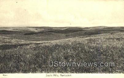 Saul's Hills - Nantucket, Massachusetts MA Postcard