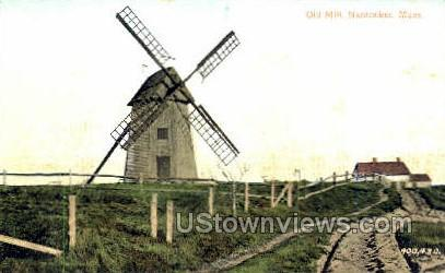Old Mill - Nantucket, Massachusetts MA Postcard