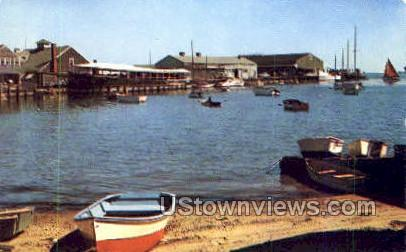 Steamboat Dock - Nantucket, Massachusetts MA Postcard