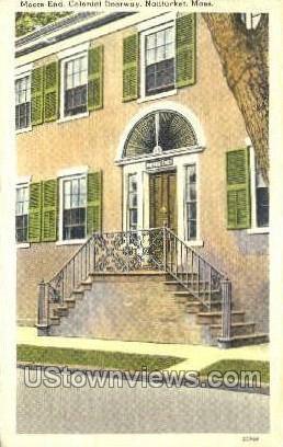 Moors End, Colonial Doorway - Nantucket, Massachusetts MA Postcard