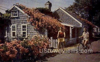 Nantucket Cottage - Massachusetts MA Postcard