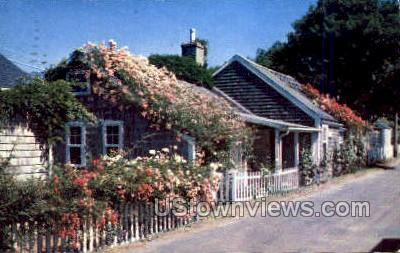 Rose Covered Cottage - Nantucket, Massachusetts MA Postcard