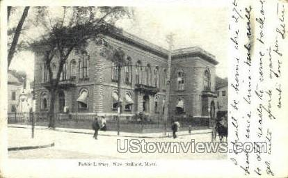 Public Library - New Bedford, Massachusetts MA Postcard