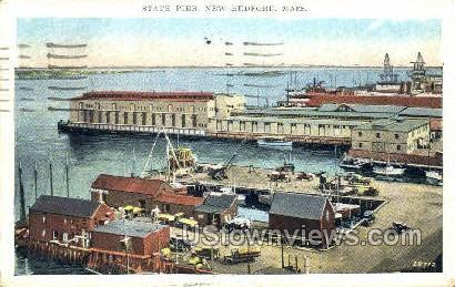 State Pier - New Bedford, Massachusetts MA Postcard