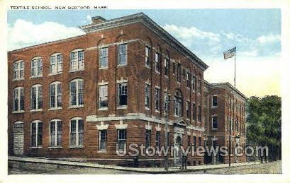 Textile School - New Bedford, Massachusetts MA Postcard