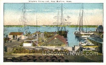 Whalers Fitting Out - New Bedford, Massachusetts MA Postcard