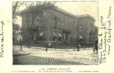 The Library Building - New Bedford, Massachusetts MA Postcard