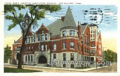 Young Men's Christian Building - New Bedford, Massachusetts MA Postcard