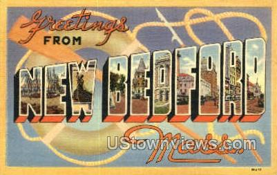 Greetings From - New Bedford, Massachusetts MA Postcard