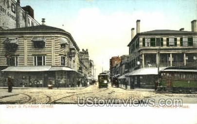 Union & Purchase St. - New Bedford, Massachusetts MA Postcard