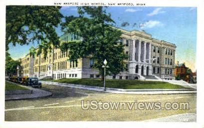 New Bedford High School - Massachusetts MA Postcard