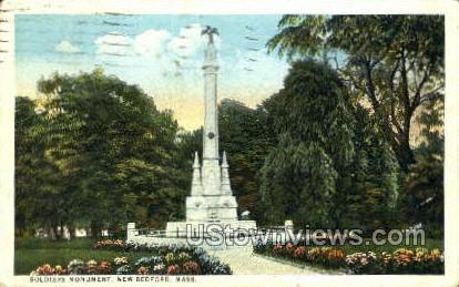 Soldiers Monument - New Bedford, Massachusetts MA Postcard