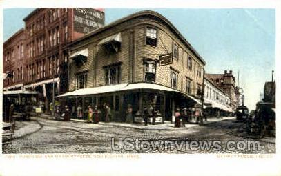 Purchase & Union Sts. - New Bedford, Massachusetts MA Postcard