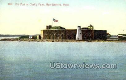 Old Fort, Clark's Point - New Bedford, Massachusetts MA Postcard