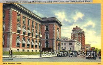 Pleasant St. - New Bedford, Massachusetts MA Postcard