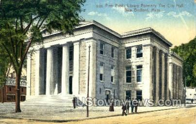Free Public Library - New Bedford, Massachusetts MA Postcard