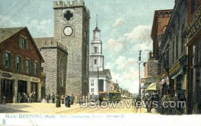 North Congregational Church - New Bedford, Massachusetts MA Postcard