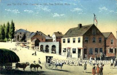 The Old Four corners - New Bedford, Massachusetts MA Postcard