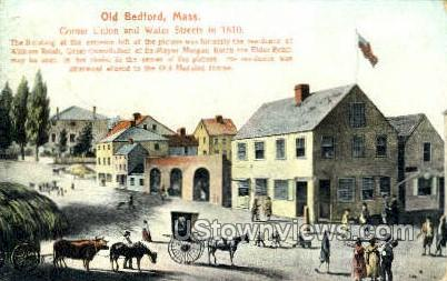 corner Union & Water Sts. - New Bedford, Massachusetts MA Postcard