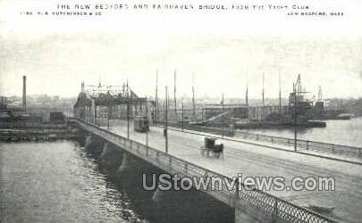 Fairhaven Bridge - New Bedford, Massachusetts MA Postcard