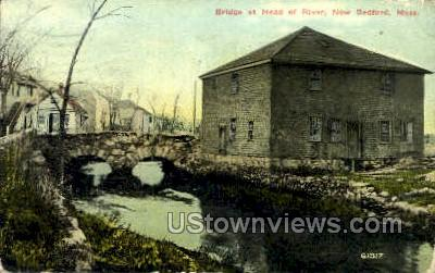 Bridge at Head of River - New Bedford, Massachusetts MA Postcard