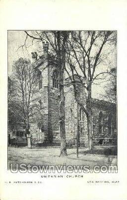 Unitarian Church - New Bedford, Massachusetts MA Postcard