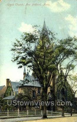 Grace Church - New Bedford, Massachusetts MA Postcard