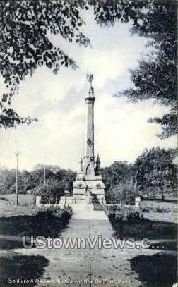 Soldiers & Sailors Monument - New Bedford, Massachusetts MA Postcard