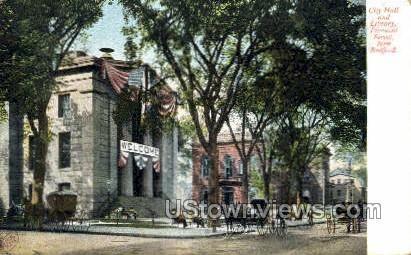 City Hall & Library - New Bedford, Massachusetts MA Postcard
