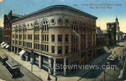 cornert William & Purchase St. - New Bedford, Massachusetts MA Postcard
