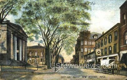 City Hall Square - New Bedford, Massachusetts MA Postcard