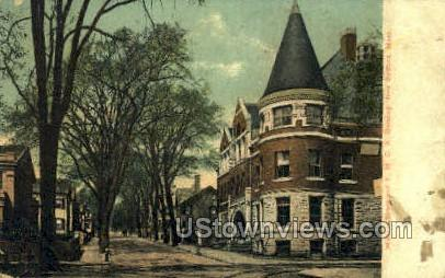 William St. & Y.M.C.A. Building - New Bedford, Massachusetts MA Postcard