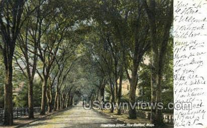 Hawthorn St. - New Bedford, Massachusetts MA Postcard