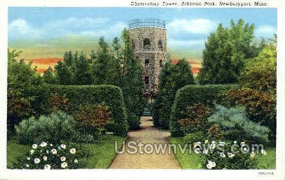 Observatory Tower, Atkinson Park - Newburyport, Massachusetts MA Postcard