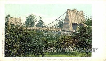 Old Chain Bridge - Newburyport, Massachusetts MA Postcard