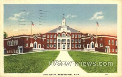 High School - Newburyport, Massachusetts MA Postcard