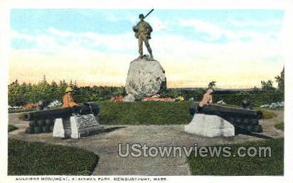 Soldiers Monument, Atkinson Park - Newburyport, Massachusetts MA Postcard
