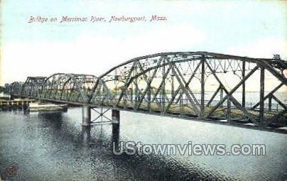 Bridge - Newburyport, Massachusetts MA Postcard
