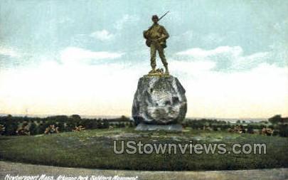 Soldiers Monument - Newburyport, Massachusetts MA Postcard